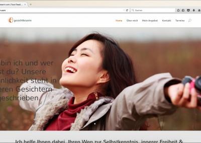 Gesichtleserin – Website und Logo